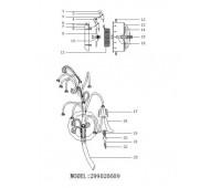 CHIARO  Валенсия 9*10W G4 12 V  бра MBK0035/9 Chiaro 299020609  (пр-во Германия)