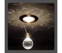 Точечный светильник Kantarel CD 001.3.1 crystal  Золотой (пр-во Россия)