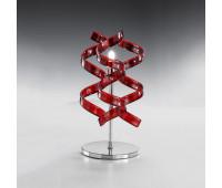 Настольная лампа Metal Lux 206.121.04  Хром,красный (пр-во Италия)