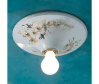 Накладной светильник Ferroluce C134 PL  Белый с рисунком (пр-во Италия)