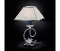 Настольная лампа  MM Lampadari 6880/L1  Серебро,синий (пр-во Италия)