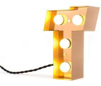 Декоративная буква с подсветкой  Seletti Caractere 01402_T  Золотистый (пр-во Италия)