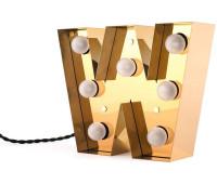 Декоративная буква с подсветкой  Seletti Caractere 01402_W  Золотистый (пр-во Италия)