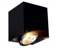 ACRYLBOX QRB111 SINGLE светильник накладной с ЭПН для лампы QRB111 50Вт макс., черный SLV 117211  (пр-во Германия)
