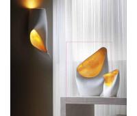 Настольная лампа Munari 104 8166 WG  Белый и золотая фольга изнутри (пр-во Италия)