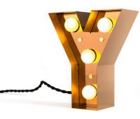 Декоративная буква с подсветкой  Seletti Caractere 01402_Y  Золотистый (пр-во Италия)