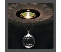 Точечный светильник Kantarel CD 001.3.1 crystal MR 16 40mm  Золотой (пр-во Россия)