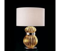 Настольная лампа Barovier&Toso Barovier 5686/CG/BB  Хром и стекло ручной работы коньячного цвета (cognac) - cg (пр-во Италия)