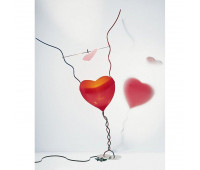 Настольная лампа  Ingo Maurer One From The Heart 4070000  Серый, синий, красный (пр-во Германия)