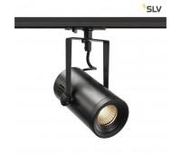 1PHASE-TRACK, EURO SPOT LED SMALL светильник 11Вт с LED 3000К, 650лм, 36°, черный SLV 1001485  (пр-во Германия)