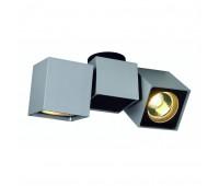 ALTRA DICE SPOT 2 светильник накладной для 2-x ламп GU10 по 50Вт макс., серебристый / черный SLV 151534  (пр-во Германия)