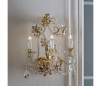 Бра   Epoca Lampadari 1430/A3 dec. 580 smoke crystal  Античная, золотая фольга и слоновая кость (пр-во Италия)