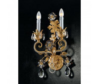 Бра   Epoca Lampadari 1419/A2 dec. 712 smoke crystal  Античная золотая фольга (пр-во Италия)