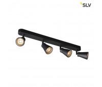 AVO QUAD CW светильник накладной для 4-х ламп GU10 по 50Вт макс., черный SLV 1000895  (пр-во Германия)