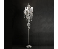 Торшер  Masiero Luxury Silver Imperial/STL6 Asfour Crystal  Серебро, прозрачный (пр-во Италия)