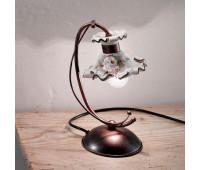 Настольная лампа Ferroluce C1119 LU  Черная медь (пр-во Италия)