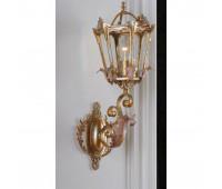 Бра   Epoca Lampadari 1449/A1 dec. 723  Золотая фольга, серебряная фольга, розовый (пр-во Италия)