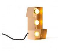 Декоративная буква с подсветкой  Seletti Caractere 01402_L  Золотистый (пр-во Италия)