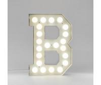 Декоративная буква с подсветкой  Seletti Vegaz 01408_B  Белый (пр-во Италия)