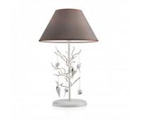 Настольная лампа Eurolampart 1139/01BA  Состаренный белый с потертостями и декором золотисто-серебряного цвета (пр-во Италия)