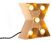 Декоративная буква с подсветкой  Seletti Caractere 01402_X  Золотистый (пр-во Италия)