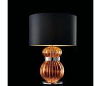 Настольная лампа Barovier&Toso Barovier 5686/CA/NO  Хром и стекло ручной работы цвета карамели (caramel) - ca (пр-во Италия)