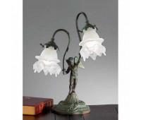 Лампа настольная Nervilamp 2081/2L/SC Antique Green   Античная бронза (пр-во Италия)