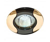 Встраиваемый светильник Feron 020T  Черный, золото (пр-во Китай)