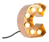 Декоративная буква с подсветкой  Seletti Caractere 01402_C  Золотистый (пр-во Италия)