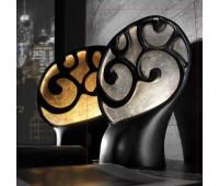 Настольная лампа Munari 104 7212 NS  Черный и серебряная фольга (пр-во Италия)