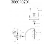 CHIARO  Палермо 1*40W E14 220 V бра 5763-1B Chiaro 386020701  (пр-во Германия)