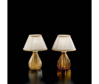 Настольная лампа Sylcom 1395 AS + TOP 1462/22 ORO  Позолоченный, янтарь соммерсо (пр-во Италия)
