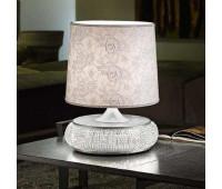 Настольная лампа Masiero Gala TL1 G V97 Bianco lucido e argento (ex P15)  Блестящий белый цвет с серебром (пр-во Италия)