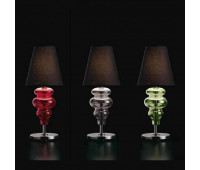 Настольная лампа Barovier&Toso Barovier 7182/RR/NN  Хром и стекло ручной работы красного цвета (red) - rr (пр-во Италия)
