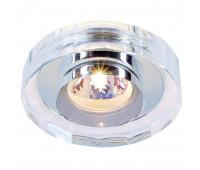 CRYSTAL 2 светильник встраиваемый для лампы MR16 35Вт макс., хром/ стекло прозрачн. кристаллическое SLV 114921  (пр-во Германия)