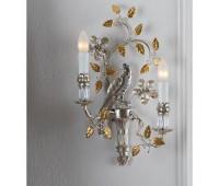Бра   Epoca Lampadari 1406/A2 SX dec. 842 smoke crystal  Античная, золотая фольга+античная, серебряная фольга (пр-во Италия)