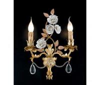 Бра   Epoca Lampadari 1437/A2 dec. 732  Античная золотая фольга, розовый (пр-во Италия)