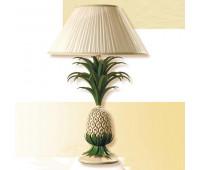 Настольная лампа Passeri  LG.1180/1/L Dec. 022  Бежевый, зеленый (пр-во Италия)