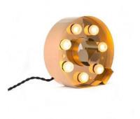 Декоративная буква с подсветкой  Seletti Caractere 01402_Q  Золотистый (пр-во Италия)