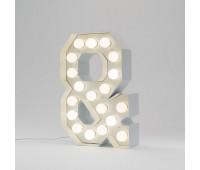 Декоративная буква с подсветкой  Seletti Vegaz 01408_&  Белый (пр-во Италия)