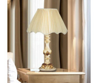 Настольная лампа Renzo Del Ventisette LSP 13597/1 DEC. 0123  Слоновая кость с золотом, античное золото (пр-во Италия)