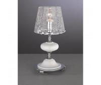 Настольная лампа Paderno Luce T 20211/1.02 CRACC HE GLASS  Хром, белый (пр-во Италия)