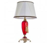 Светильник настольный Arte Lamp 5125/10 TL-1 SIMONA  Стекло красного цвета и золото (пр-во Италия)