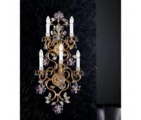 Бра   Epoca Lampadari 418/A5 dec. 722 lilac crystal  Античная, серебряная фольга и золотая фольга (пр-во Италия)