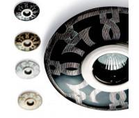 Точечный светильник  Le Porcellane 5573/NP  Черный, платина (пр-во Италия)