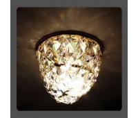 Точечный светильник Kantarel CD 014.3.1 crystal  Золотой (пр-во Россия)