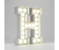 Декоративная буква с подсветкой  Seletti Vegaz 01408_H  Белый (пр-во Италия)