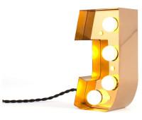 Декоративная буква с подсветкой  Seletti Caractere 01402_J  Золотистый (пр-во Италия)