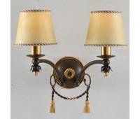 Бра  Epoca Lampadari 1342/A2 dec. 210  Золотая фольга, ржавчина (пр-во Италия)