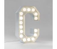 Декоративная буква с подсветкой  Seletti Vegaz 01408_C  Белый (пр-во Италия)